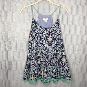 Anthropologie Meadow Rue Paisley Tank Top